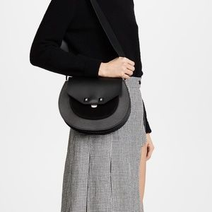 NWT SALAR MILANO Soffi Denim Leather Shoulder Bag